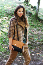 light brown Elisabetta Franchi bag - dark brown Relish jacket