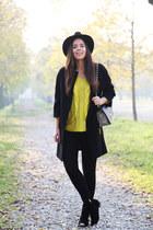 light yellow Sheinside sweater - black Shoesing shoes - black Zara jeans