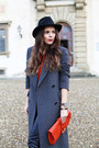 Sky-blue-converse-shoes-gray-sportmax-coat-black-panizza-hat-red-gucci-bag