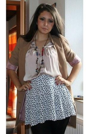 H&M shirt - H&M blazer - Bijou Brigitte necklace - H&M skirt