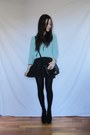 Sky-blue-wool-attrativo-sweater-black-stradivarius-bag-black-zara-skirt
