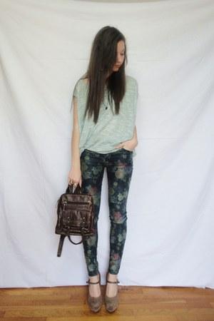 aquamarine Zara blouse - light brown a local store shoes