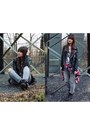 Black-forever21-jacket-ruby-red-second-hand-shirt