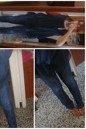 Zara shirt - BLANCO jeans - Mustang shoes - Bershka purse