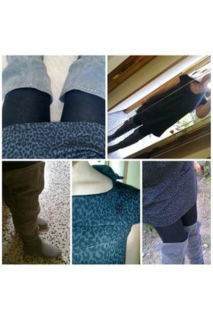 BLANCO boots - BLANCO dress - Calzedonia socks