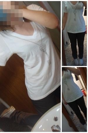 nixon t-shirt - Mango pants - Converse shoes