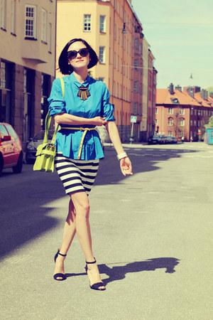 full circle dress - COS shirt - Zara sandals