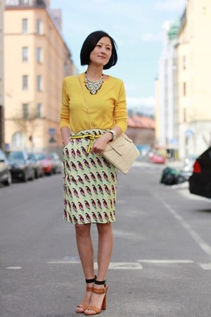 hm skirt - Zara sandals - COS top - hm necklace