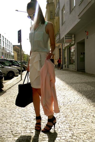 Zara skirt - H&M skirt - Mango blazer - Mango bag - H&M sandals