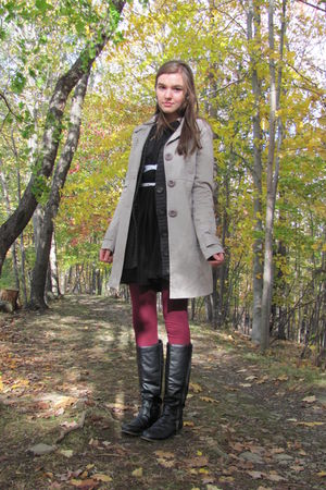 black American Apparel dress - gray Old Navy cardigan - gray urban behavior coat