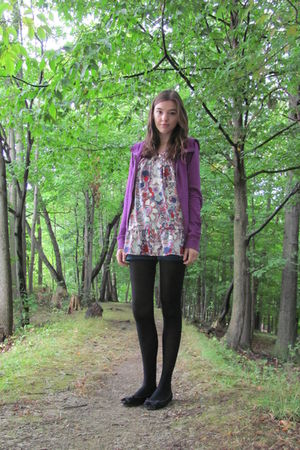 purple Forever 21 sweater - Liberty of London for Target top - blue I 3 Ronson s