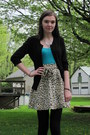 Turquoise-blue-charlotte-russe-top-mink-pink-skirt