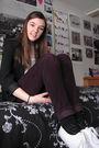 Purple-forever-21-pants-black-express-blazer-white-walmart-top-silver-h-m-