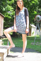 blue Heritage 1981 dress - black Target sweater - white payless shoes