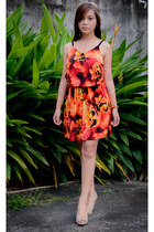 carrot orange sister dress Trendology dress - tan Payless heels