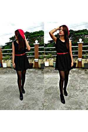 lace Criselle dress - beanie H&M hat - ankle boots Charles & Keith accessories