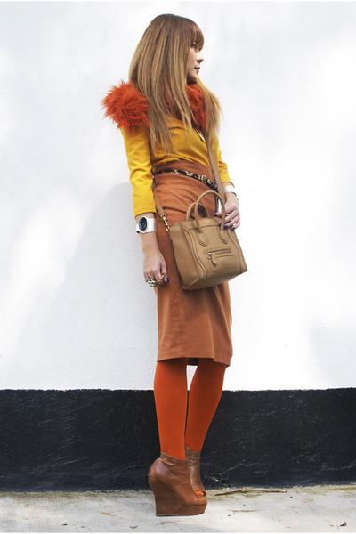Celine bag - H&M blouse