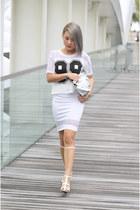 random brand bag - Topshop skirt - Thrift Store top