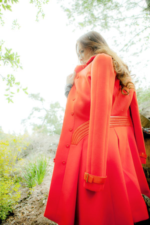 red versace coat