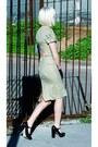 Olive-green-plaid-designed-by-me-dress-black-satin-vintage-gloves-black-fore