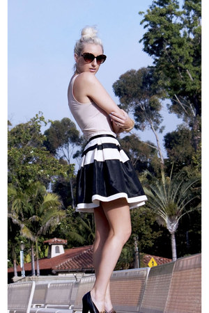 black OASAP skirt - hot pink Nordstrom blazer - off white Candy Shoppe t-shirt