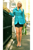 turquoise blue riding handmade by US jacket - turquoise blue Steve Madden heels