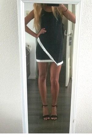 black dress - black primark heels