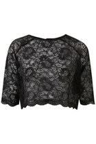 black lace Topshop blouse