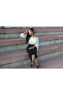 White-rosegal-blouse-black-rosegal-pants-black-black-heels-mango-heels