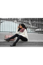 Black-leather-sascha-shoes-boots-ivory-wool-vero-moda-sweater