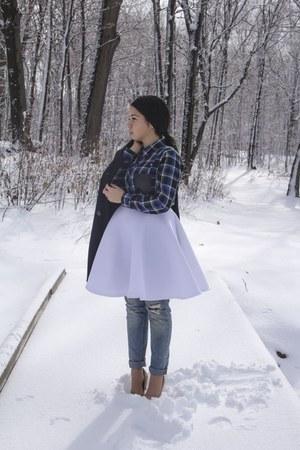 white scuba skirt skirt