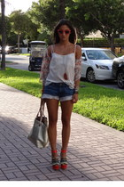 tawny Steve Madden wedges - gold Michael Kors bag - blue DIY shorts