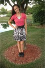 Target-top-nordstrom-skirt-betsey-johnson-flats-forever-21-necklace