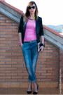 Sky-blue-stradivarius-jeans-black-stradivarius-blazer