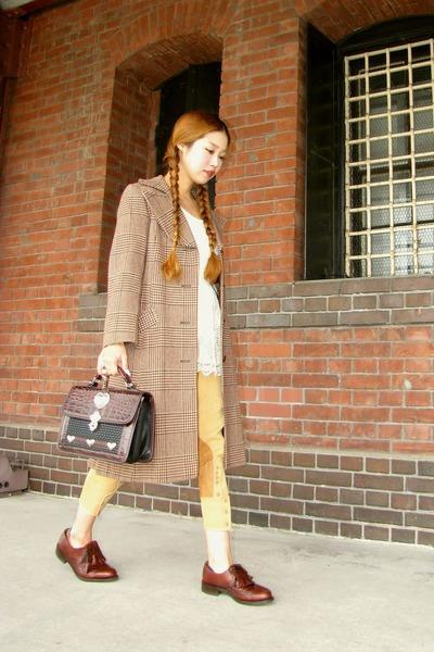 shoes - coat - bag - pants