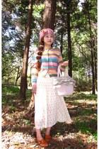 Vintage Pastel cardigan - Vintage Cream Floral Skirt
