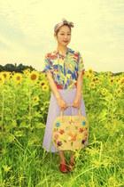 shoes - vintage aloha shirt - vintage scarf - bag - skirt