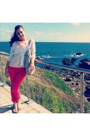 Fox jeans - Zara blazer - poema blouse