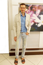 Zara jeans - Merk blazer - Pinquin shirt - Zara sandals