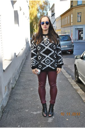 Gate sweater - Primark boots - Zara bag - zeroUV sunglasses - H&M necklace