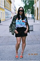 camo Primark jacket - H&M shorts - spiked Sammy dress bracelet