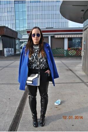 Primark boots - Primark coat - Mango sweater - Primark bag - zeroUV sunglasses