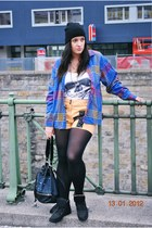 flea market blouse - New Yorker shirt - Primark tights