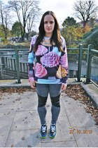 Tally Weijl jeans - Sheinside sweatshirt - H&M necklace - nike air max sneakers