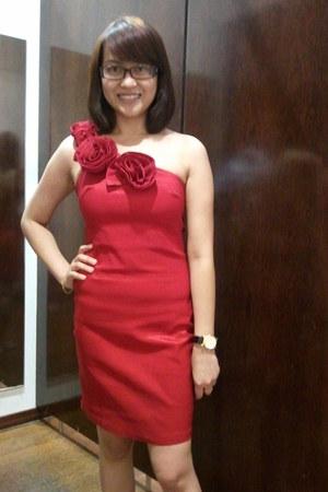 red Origem dress