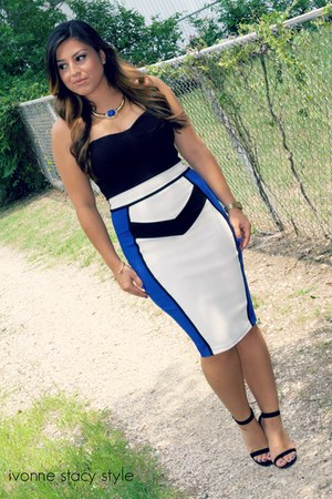 blue Forever 21 necklace - blue midi dress windsor dress