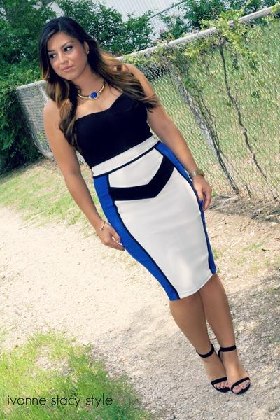Blue Forever 21 Necklaces Blue Midi Dress Windsor Dresses Color