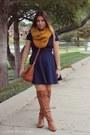 Mustard-primark-scarf-navy-forever-21-skirt-navy-forever-21-top