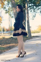 brown Forever 21 skirt - black Express top - brown Aldo heels