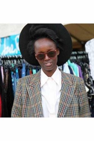 brand unknown hat - pendleton blazer - double two shirt